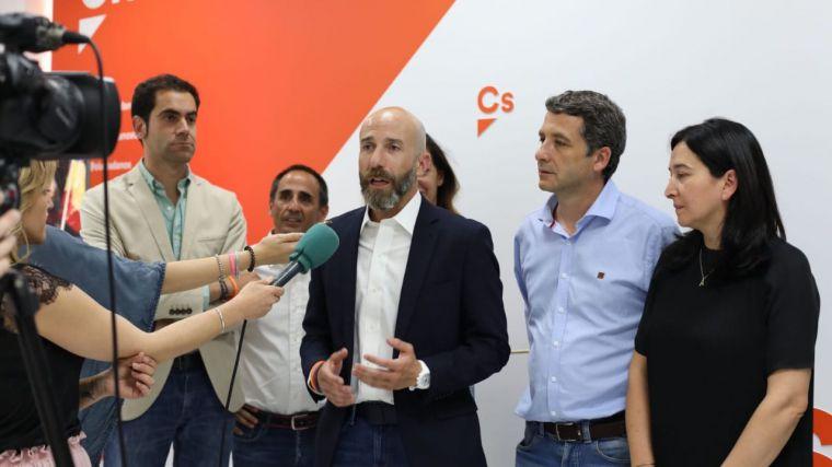 """David Muñoz (Cs): """"Nosotros vamos a seguir trabajando por nuestro proyecto en el que han confiado más castellanomanchegos que en 2015"""""""