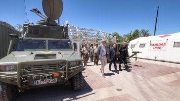 La Unidad Militar de Emergencias (UME) muestra sus efectivos en Tarancón