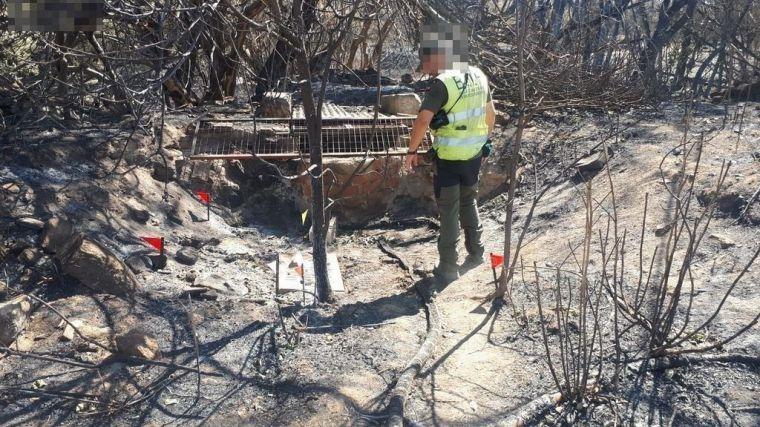 Las B.I.I.F. del Cuerpo de Agentes Medioambientales de CLM investigan los incendios de Almorox y Toledo