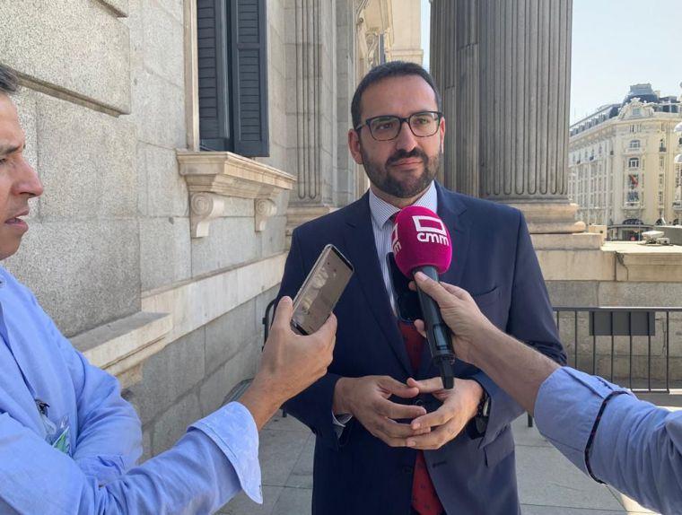 El diputado del PSOE por Toledo Sergio Gutiérrez, presidente de la Comisión de Asuntos Exteriores del Congreso