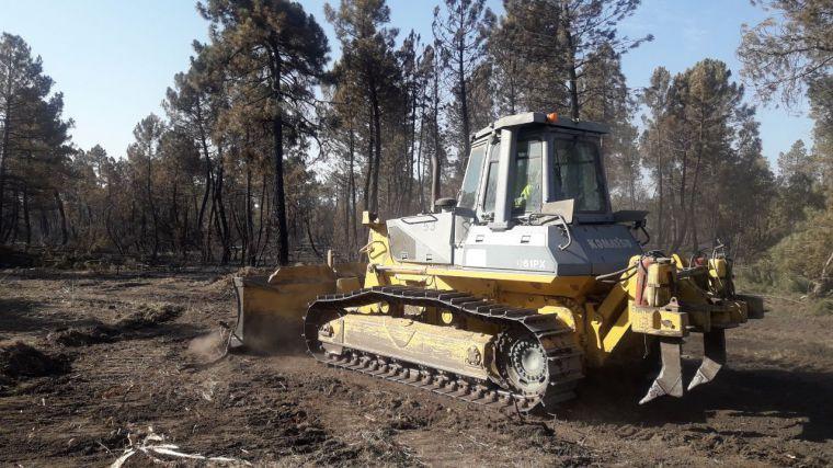 Estabilizado el incendio en Barchín del Hoyo, que puede quedar apagado en las próximas horas