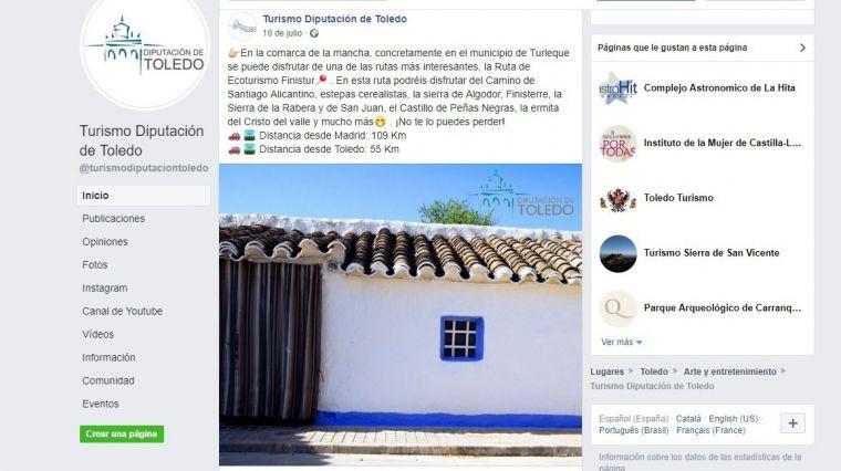 La Diputación de Toledo promociona los recursos turísticos de la provincia aprovechando las redes sociales