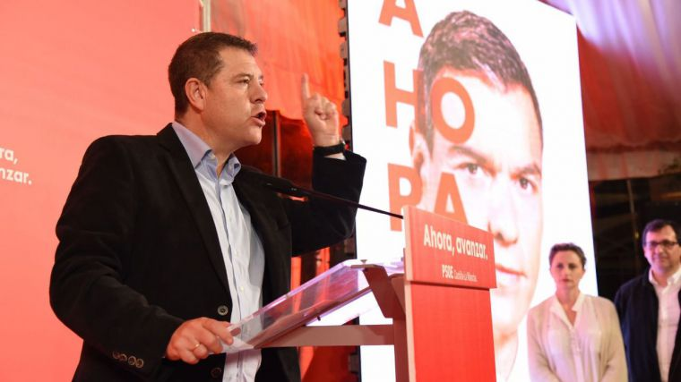 García-Page pide el voto para tener un gobierno que defienda los intereses de España y de CLM