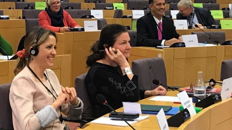 Cristina Maestre pide a la Comisión Europea medidas para paliar la subida de aranceles de EEUU a productos agroalimentarios