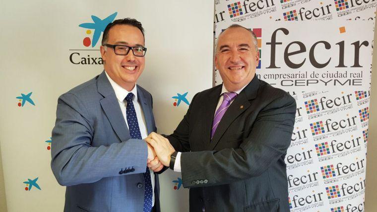 CaixaBank y Fecir renuevan su compromiso por la proyección de las empresas en Ciudad Real