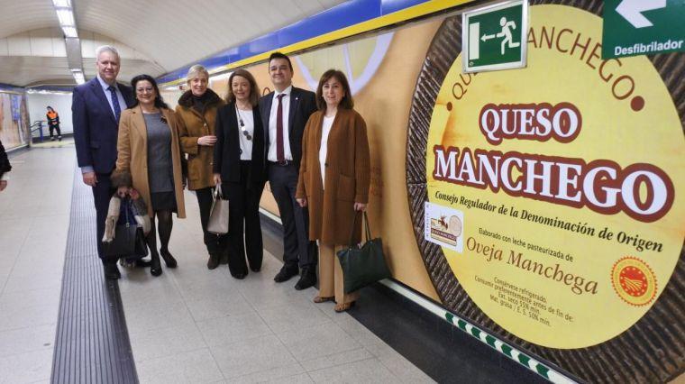 El queso manchego llegará a cerca de seis millones de pasajeros del metro de Madrid