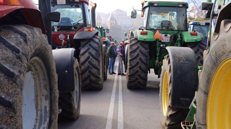 Manifestación de agricultores esta semana en Toledo.