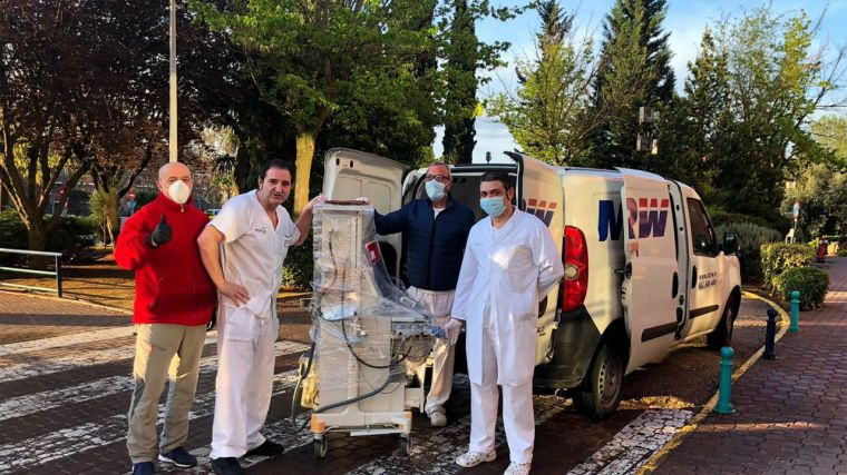 La Junta distribuye 17 equipos de respiradores y de ventilación mecánica en centros hospitalarios de la región