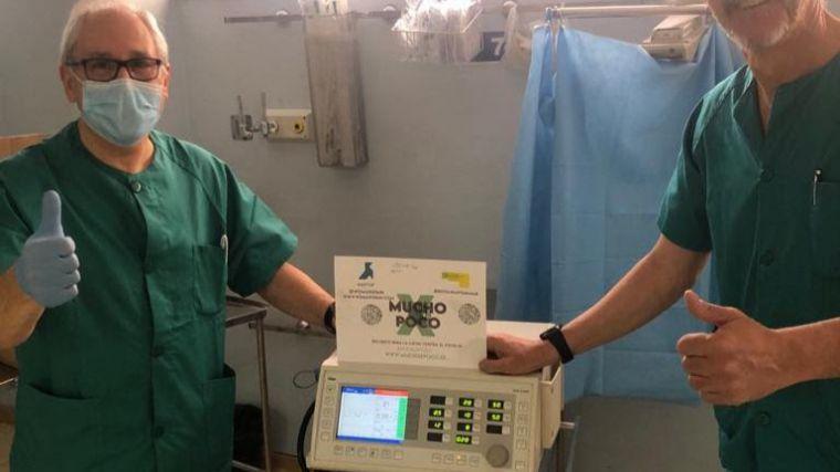 Ayuda para el Hospital de Guadalajara entrega 1 respirador en colaboración con EO Madrid