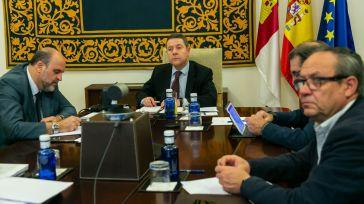 Emiliano García-Page en la videoconferencia de presidentes autonómicos.