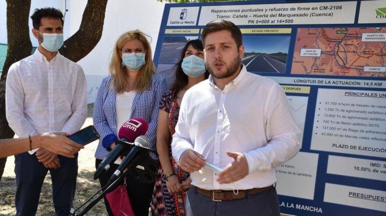 El Gobierno regional comienza las obras de mejora de la CM-2106 entre Cañete y Huerta del Marquesado, en la provincia de Cuenca