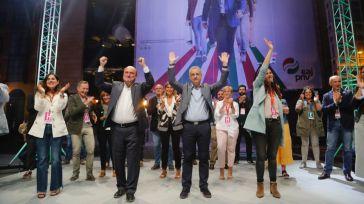 Salida triunfal de Urkullu tras las Elecciones al Parlamento Vasco 2020.