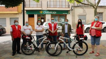 Mahora estrena 'patrulla' de Cruz Roja en bicicleta gracias a Globalcaja