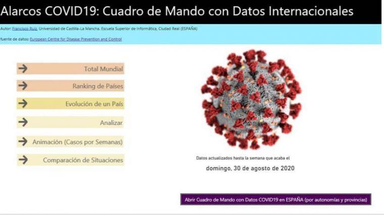 El grupo Alarcos de la UCLM desarrolla una web con datos oficiales sobre la evolución de pandemia de la COVID-19