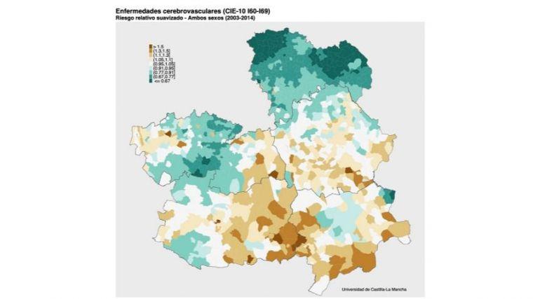 Un estudio analiza los patrones geográficos y temporales de la mortalidad en Castilla-La Mancha a nivel municipal en el período 2003-2014