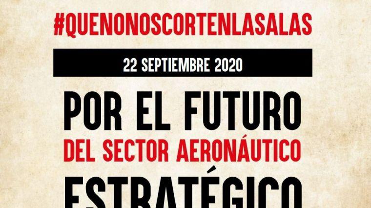 CCOO y UGT convocan este martes huelga y movilizaciones en el sector aeronáutico