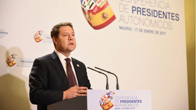 GARCÍA-PAGE DEFIENDE LA CESIÓN DE SOBERANÍA FISCAL EN LA CONFERENCIA DE PRESIDENTES