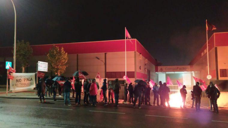 Seguimiento unánime del primer día de huelga en Compo Factory Toledo