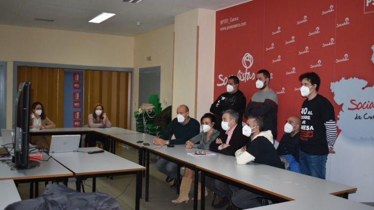 El PSOE respalda a los trabajadores de Siemens Gamesa y rechaza el cierre de la planta de Cuenca