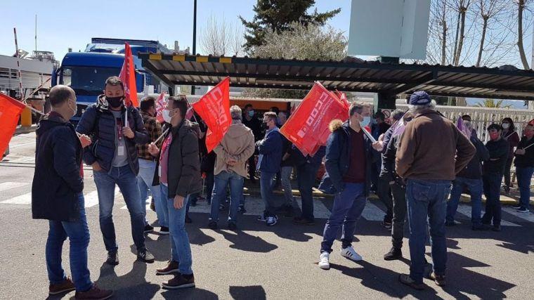 Trabajadores de Eserman se concentran en Puertollano contra los 'recortes, impagos e incumplimientos' de la empresa