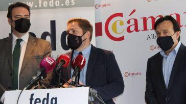 Hernando ve 'imprescindible' la implicación de FEDA y la Cámara de Comercio de Albacete en el proyecto 'ALMA'