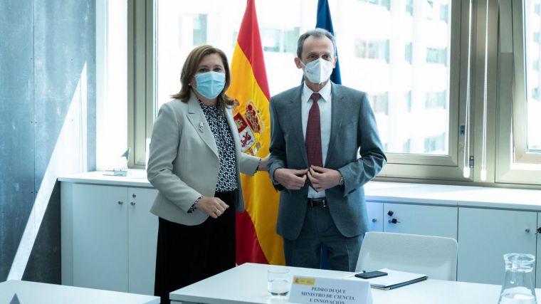 La Junta pide al ministro Duque intensificar la colaboración para mejorar la ejecución de los fondos europeos de investigación