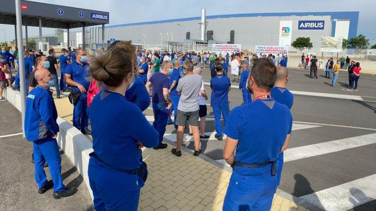 Las plantillas de Airbus en Illescas y Albacete preparan movilizaciones y huelgas en solidaridad con el cierre de Puerto Real