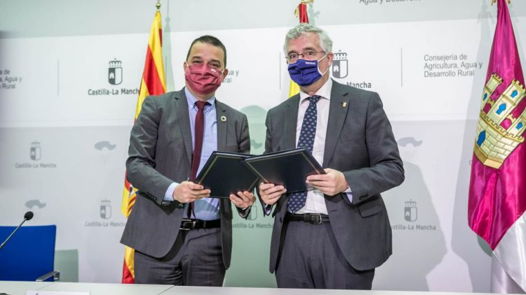Aragón y Castilla-La Mancha acuerdan impulsar un cambio de la PAC en beneficio de la agricultura familiar y los profesionales