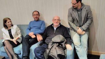 Los ponentes de la presentación, de izquierda a derecha: Adriana Lastra (Asturias), Juan Andrés Perelló (Valencia), Francisco Ramos (Toledo) y Pablo Ortiz (Toledo)