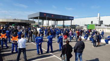 Las plantillas de Airbus en Illescas y Albacete se movilizan en defensa del empleo y contra el cierre de la factoría de Puerto Real