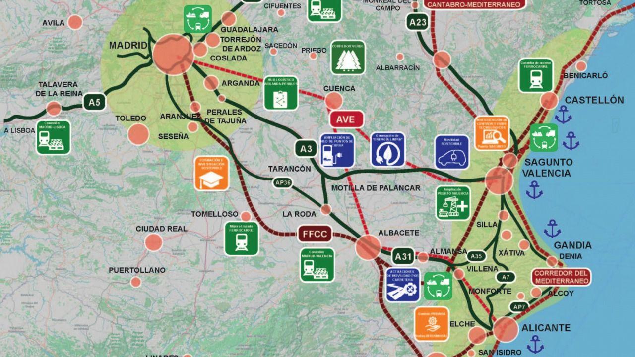 CEOE CEPYME Cuenca apoya el proyecto de Conexus de unión verde y digital entre Madrid y Valencia