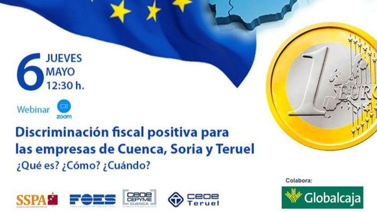 Las CEOEs de Cuenca, Soria y Teruel darán una charla bajo el título 'Discriminación fiscal positiva hoy'