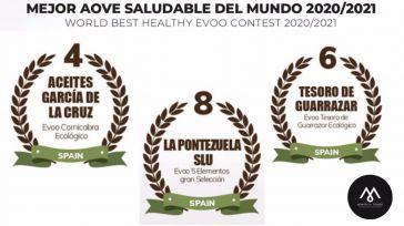 Tres aceites de oliva virgen extra de la DOP Montes de Toledo, entre los más saludables del mundo