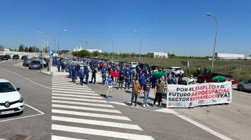 Las plantillas de Airbus en Illescas y Albacete vuelven a secundar masivamente una nueva jornada de huelga