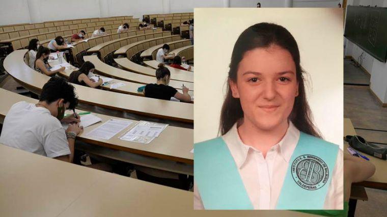 La nota más alta de la EvAU en la UCLM es la de la ciudarrealeña Alicia Ruiz Romero y se quedará en Toledo para estudiar Fisioterapia