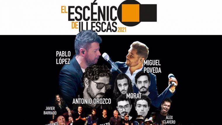 Poveda, Morat, Pablo López o Antonio Orozco llenarán el programa cultural de Illescas los fines de semana de septiembre