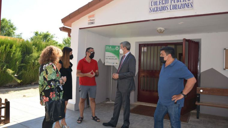 Álvaro Gutiérrez visita los proyectos de San Bartolomé de las Abiertas que apoya la Diputación