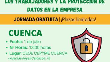 CEOE CEPYME Cuenca celebra este jueves una jornada sobre protección de datos en la empresa