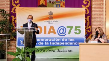 El presidente de las Cortes de Castilla-La Mancha participa en el arranque de la conmemoración de los 75 años de independencia de La India