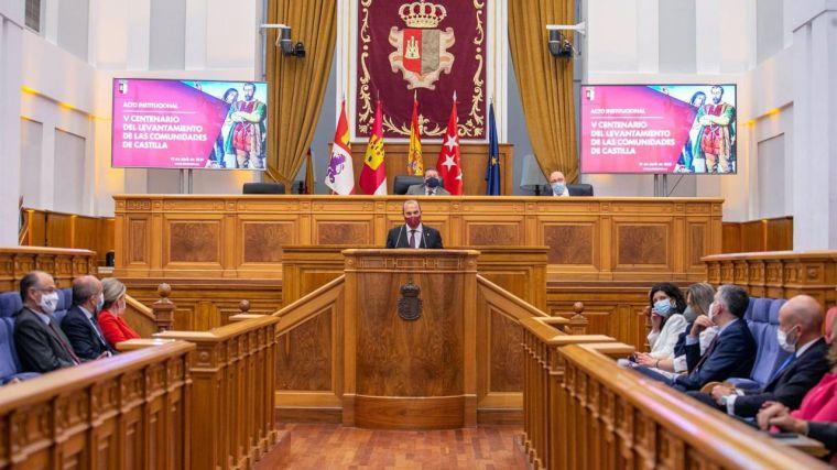 Bellido destaca la productividad legislativa de las Cortes en la primera mitad de mandato y su alto grado de consenso
