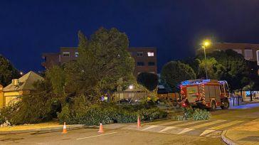 Se desploma una pared de Urgencias del Hospital Mancha Centro a causa de las fuertes tormentas
