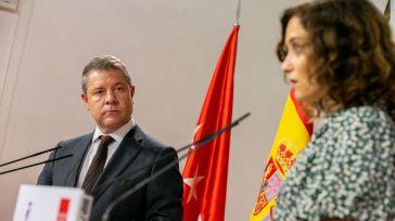 García-Page e Isabel Díaz Ayuso en un encuentro en el Palacio de Fuensalida.
