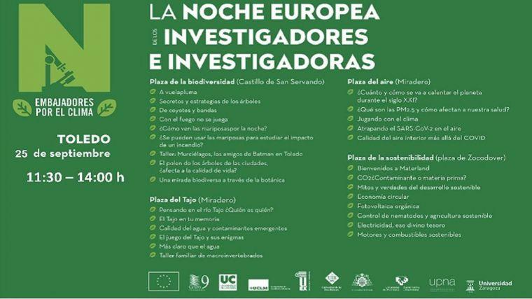 La Noche Europea de los Investigadores en Toledo prevista este viernes se traslada a este sábado por la climatología