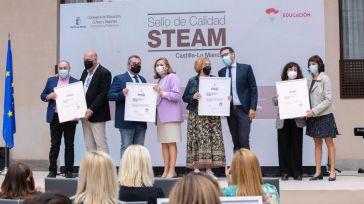 Un total de 46 centros educativos de CLM reciben un sello de calidadpor desarrollar proyectos STEAM