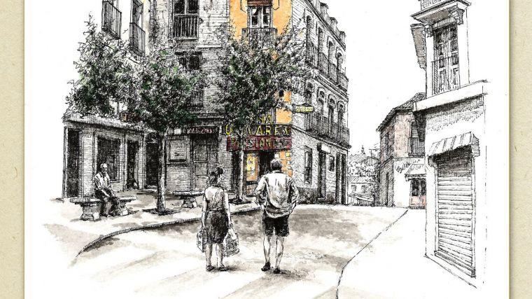 La Diputación de Guadalajara acoge una exposición de dibujos de Ángel Malo Ocaña