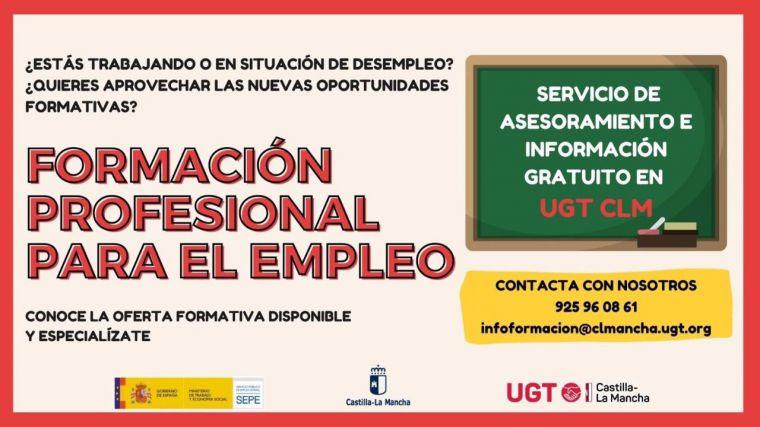 UGT CLM comienza una campaña de asesoramiento y difusión de la oferta de Formación Profesional para el Empleo