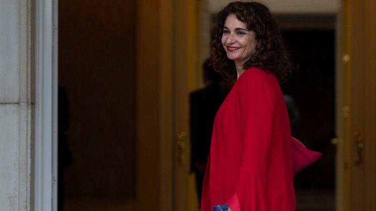 La ministra de Hacienda, María Jesús Montero, a su llegada a la primera reunión del Consejo de Ministros.