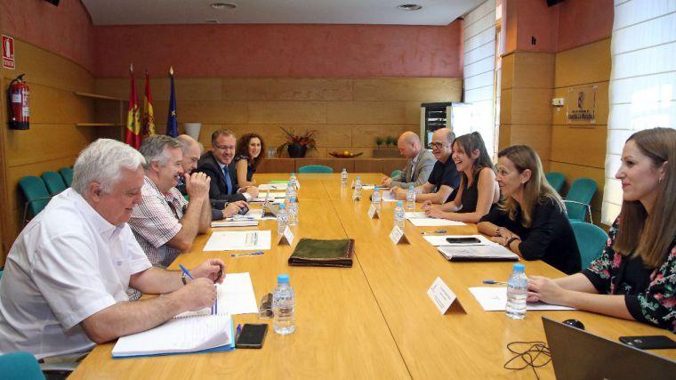 Inmaculada Herranz, consejera para la Coordinación del Plan de Garantías Ciudadanas, en la última reunión de la Comisión de Seguimiento del Plan, celebrada en julio.