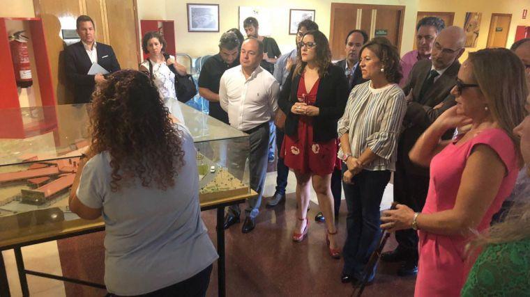 María Díaz visita la Fundación ONCE del Perro Guía
