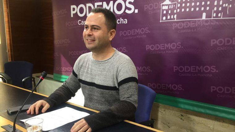 David Llorente, portavoz de Podemos en las Cortes de Castilla-La Mancha.